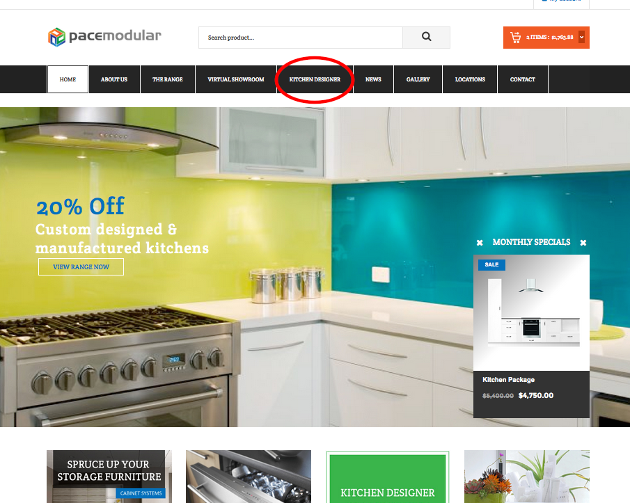 From The Homepage Of The Website, Click On The Kitchen Design Tab On The  Main Navigation Menu.